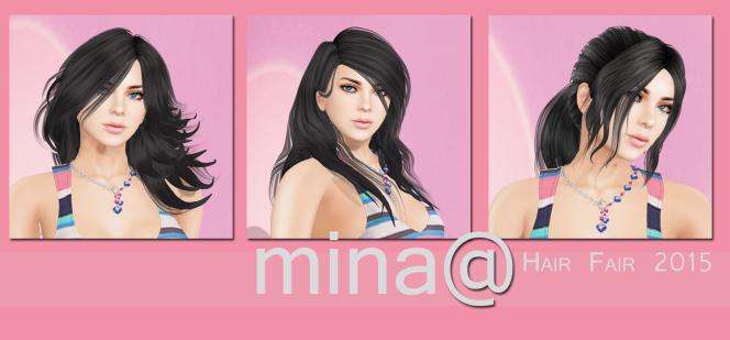 Mina at Hair Fair2015